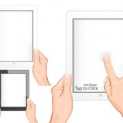 Various multi-touch gestures for tablets and smartphones vector 03