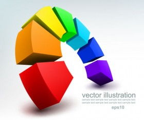 Concept 3D vector background graphics 02