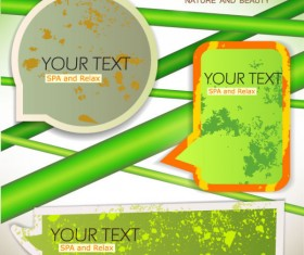 Grunge of Speech frames labels vector 03