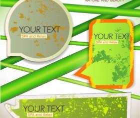 Grunge of Speech frames labels vector 03