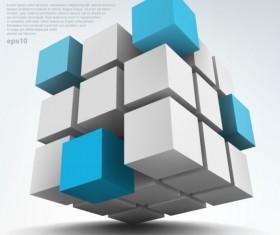 Concept 3D vector background graphics 04