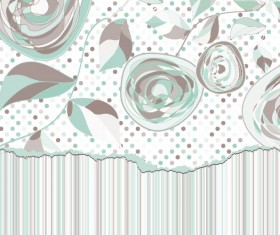 Hand drawn Floral and paper of background vector 02