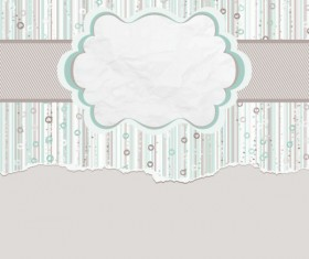 Hand drawn Floral and paper of background vector 03