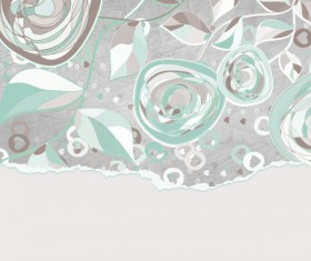 Hand drawn Floral and paper of background vector 04