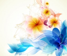 Brilliant Floral colorful background vector 01