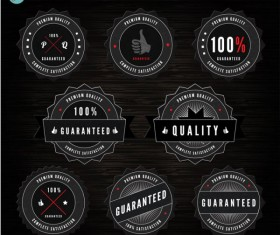 black label of Quality and guaranteed vector 03