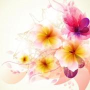 Link toBrilliant floral colorful background vector 02