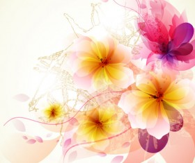 Brilliant Floral colorful background vector 02