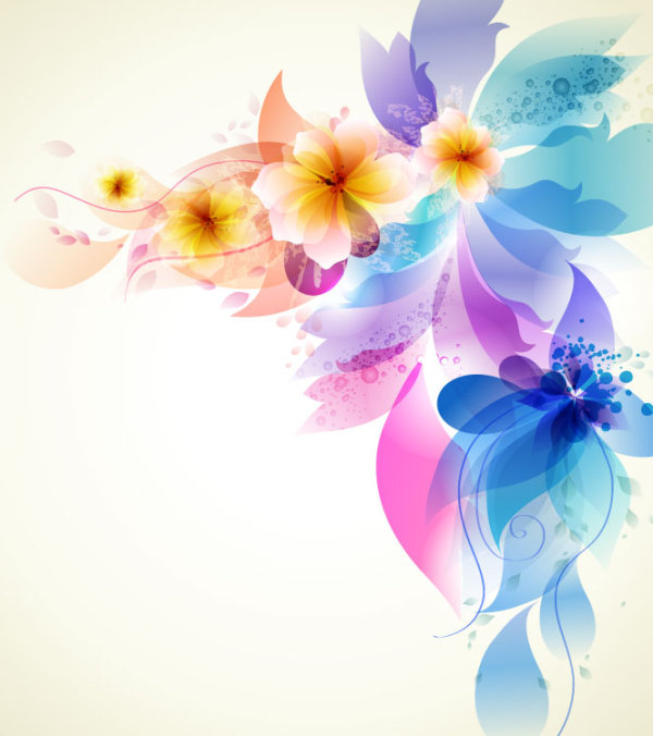 Brilliant Floral Colorful Background Vector 03 Free Download