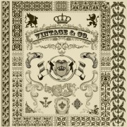 Link toElements of retro decoration pattern borders vector 04