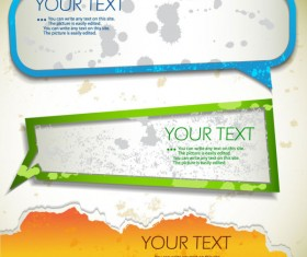 Grunge of Speech frames labels vector 05