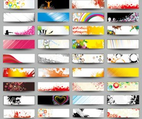 Collection of Stylish Business cards design elements vector 04
