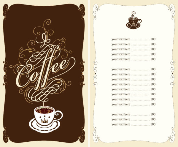 Set of cafe and restaurant menu cover template vector 01