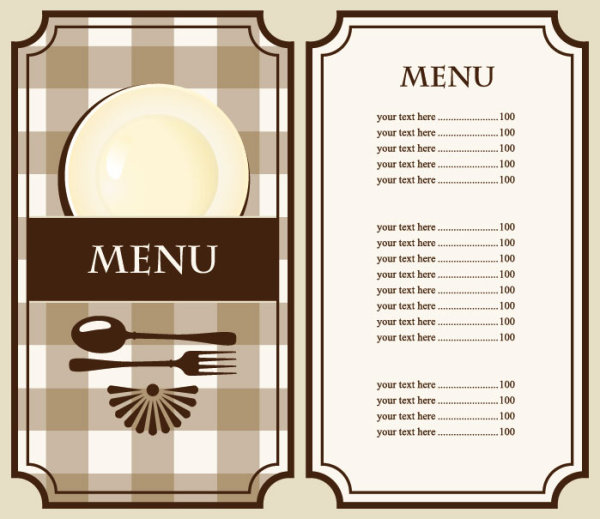 set of cafe and restaurant menu cover template vector 02 vector