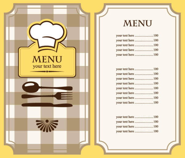 free menu templates for restaurants