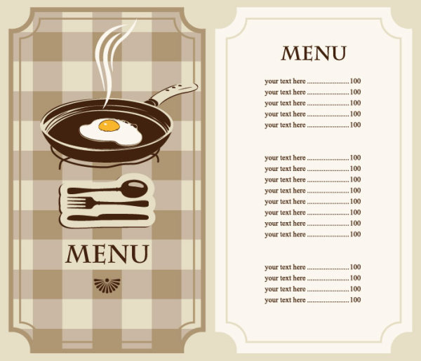 Set Of Cafe And Restaurant Menu Cover Template Vector   Vector