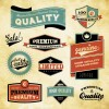 Best business elements labels vector 02