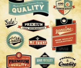 Best business elements labels vector 02