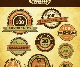 Best business elements labels vector 03