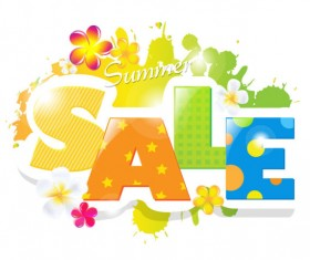 Sale elements in the summer vector graphics 03
