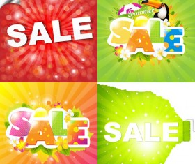 Sale elements in the summer vector graphics 04