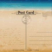 Link toVintage sea elements post card vector