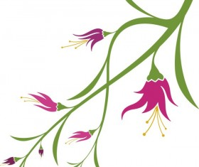Vivid with flower elements vector graphics