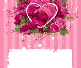 Romantic roses background art vector