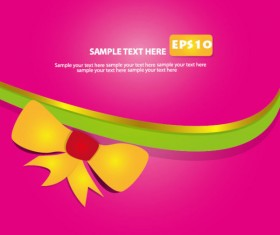 Set of Abstract color template background vector 03