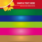 Link toSet of abstract color template background vector 05