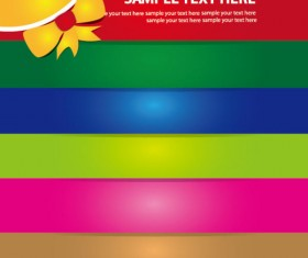 Set of Abstract color template background vector 05