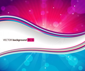 Abstract Smooth and colorful of Shiny vector background 01