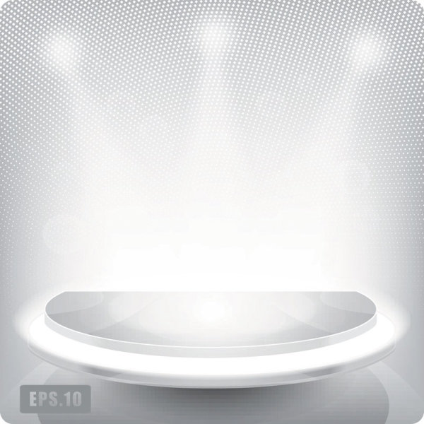 Business Booth Lighting effects vector background 02