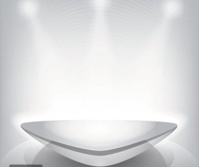 Business Booth Lighting effects vector background 03