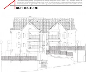 Architecture drawings design elements vector graphics 04