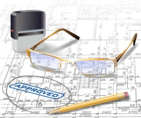 Architecture drawings design elements vector graphics 07