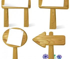 Different Wooden signboard vector graphic set 01