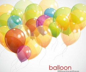 Festival elements of colorful balloon Illustration vector 04