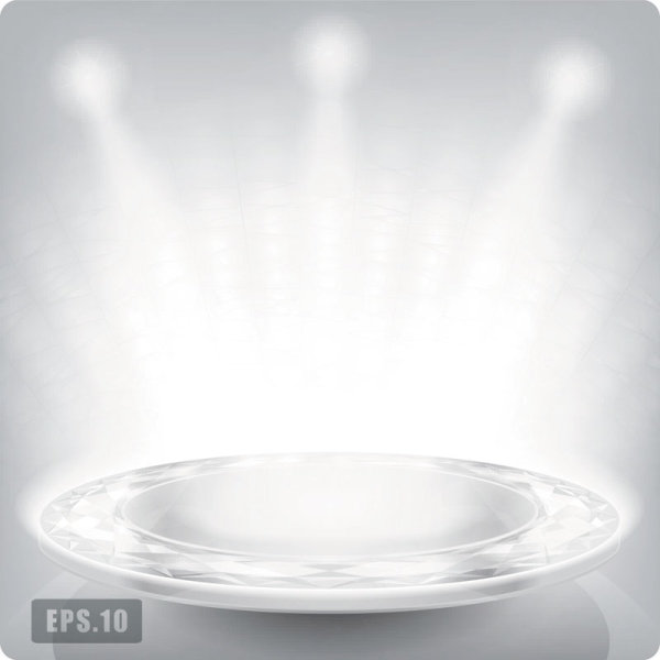 Business Booth Lighting effects vector background 05