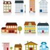 Different cartoon Houses elements vector 02