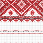 Link toUkraine style fabric ornaments vector graphics 01