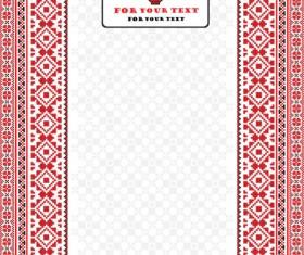 Ukraine Style Fabric ornaments vector graphics 04