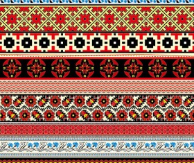 Ukraine Style Fabric ornaments vector graphics 06
