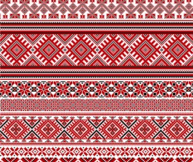 Ukraine Style Fabric ornaments vector graphics 08
