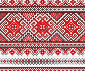 Ukraine Style Fabric ornaments vector graphics 09