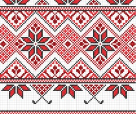 Ukraine Style Fabric ornaments vector graphics 10
