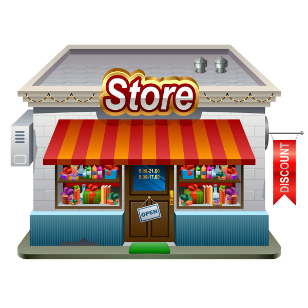 Elements of cartoon store vector 01 vector cartoon free for Cuisine store