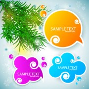 Link toCreative speech circle and cloud vector set 01