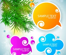 Creative Speech Circle and cloud vector set 01