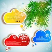 Link toCreative speech circle and cloud vector set 02